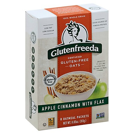 Glutenfreeda Oatmeal Instant Gluten Free Apple Cinnamon with Flax 8 Count - 11.05 Oz