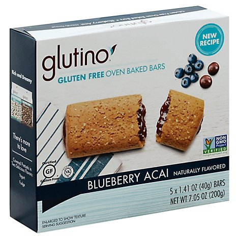 Glutino Breakfast Bars Blueberry Gluten Free - 7.05 Oz