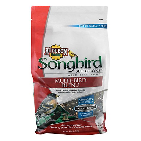 Audubon Park Songbird Selections Wild Bird Food Multi-Bird Blend Bag - 5 Lb