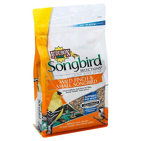 Audubon Park Songbird Selections Wild Bird Food Wild Finch & Small Songbird Bag - 4 Lb