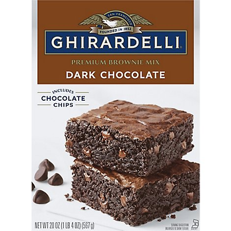 Ghirardelli Brownie Mix Dark Chocolate - 20 Oz