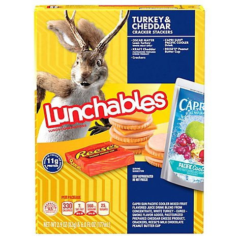 Lunchables Lunch Combinations Cracker Stackers Turkey & Cheddar - 8.9 Oz