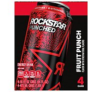 Rockstar Energy Drink Punched Energy/Punch Tropical Punch - 4-16 Fl. Oz.