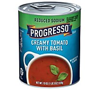 Progresso Soup Reduced Sodium Creamy Tomato with Basil - 19 Oz