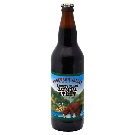 Anderson Valley Brewing Beer Barney Flats Oatmeal Stout Bottle - 22 Fl. Oz.