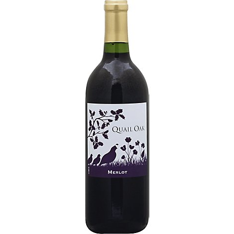Quail Oak Wine California Merlot - 750 Ml
