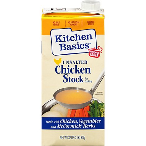 Kitchen Basics Chicken Stock All Natural Unsalted - 32 Fl. Oz.