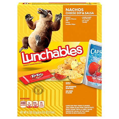 Lunchables Lunch Combinations Nachos Cheese Dip & Salsa - 4.7 Oz
