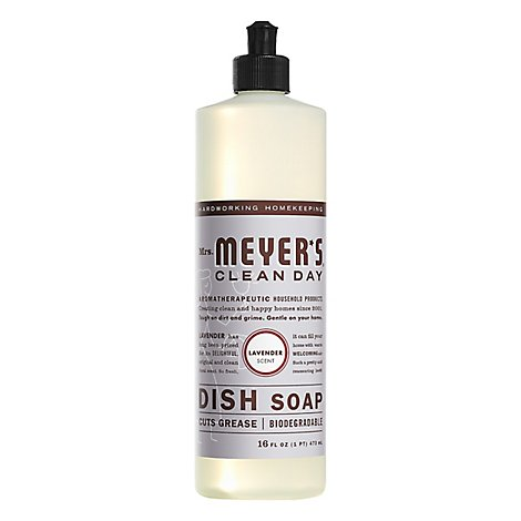 Mrs. Meyers Clean Day Liquid Dish Soap Lavender Scent 16 ounce bottle