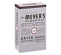 Mrs. Meyers Clean Day Dryer Sheets Lavender Scent (Pack of 80)
