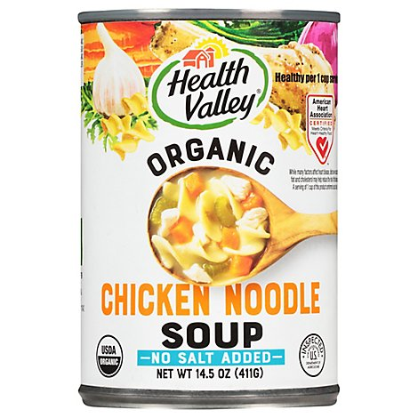 Health Valley Organic Soup No Salt Added Chicken Noodle - 14.5 Oz