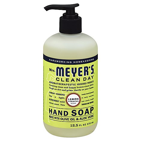 Mrs. Meyers Clean Day Liquid Hand Soap Lemon Verbena Scent 12.5 fl oz