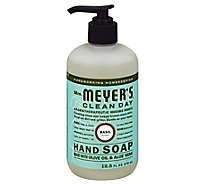 Mrs. Meyers Clean Day Liquid Hand Soap Basil Scent 12.5 ounce bottle