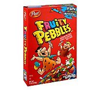 Post Fruity PEBBLES Cereal Sweetened - 15 Oz