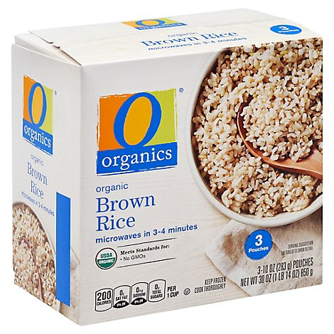 O Organics Organic Rice Brown - 3-10 Oz