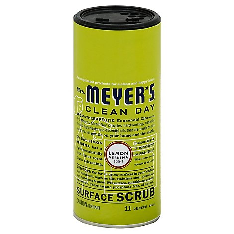 Mrs. Meyers Clean Day Surface Scrub Lemon Verbena Scent 11 ounce bottle