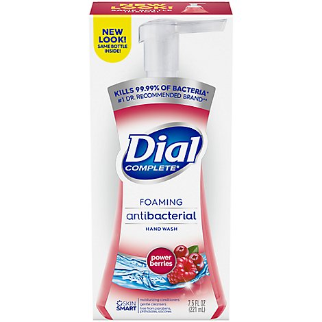 Dial Complete Hand Soap Foaming Antibacterial Cranberry - 7.5 Fl. Oz. (limit 4)