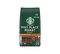 Starbucks Coffee Ground Medium Roast Pike Place Roast Bag - 12 Oz