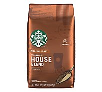 Starbucks Coffee Ground Medium Roast House Blend Bag - 20 Oz