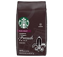 Starbucks Coffee Ground Dark Roast French Roast Bag - 20 Oz