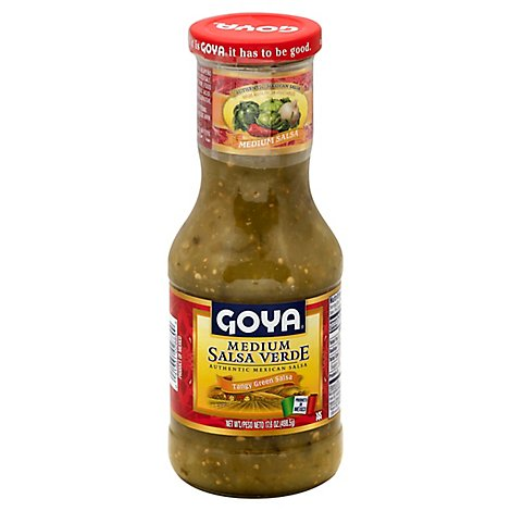 Goya Salsa Verde Medium Jar - 17.6 Oz