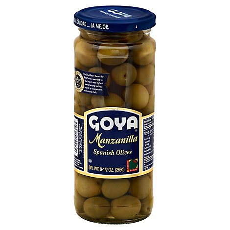 Goya Olives Spanish Manzanilla - 9.5 Oz