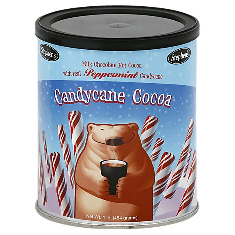 Stephens Cocoa Hot Milk Chocolate With Peppermint Candycane - 16 Oz