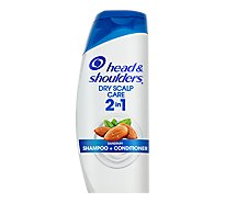 Head & Shoulders Shampoo + Conditioner Dandruff 2 in 1 Dry Scalp Care - 23.7 Fl. Oz.