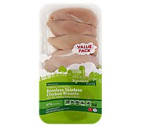 Signature Farms Boneless Skinless Chicken Breasts Value Pack - 3 Lb