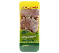 Signature Farms Boneless Skinless Chicken Thighs Value Pack - 3 Lbs.