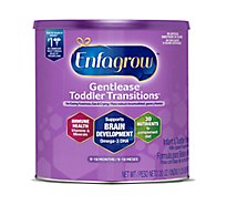Enfagrow Toddler Transitions Milk-Based Powder with Iron Gentlease 2 (9-18 Months) - 20 Oz