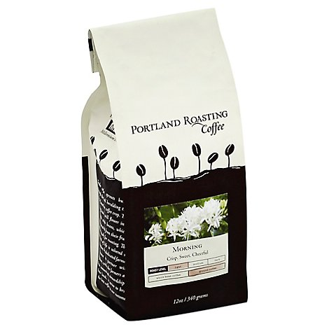Portland Roasting Coffee Coffee Ground Light Roast Morning - 12 Oz