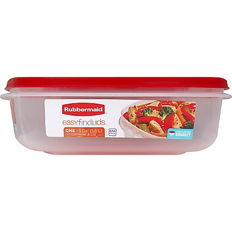 Rubbermaid Easy Find Lids Container 1.5 Gallon - Each