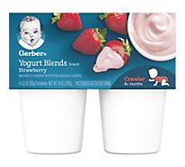 Gerber Baby Food Crawler Yogurt Blends Strawberry - 4-3.5 Oz