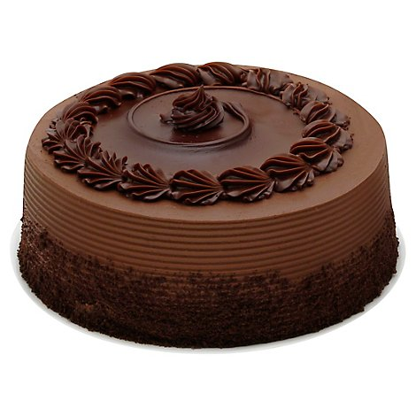 Bakery Cake Round 8 Inch 2 Layer Chocolate Seasonal - Each