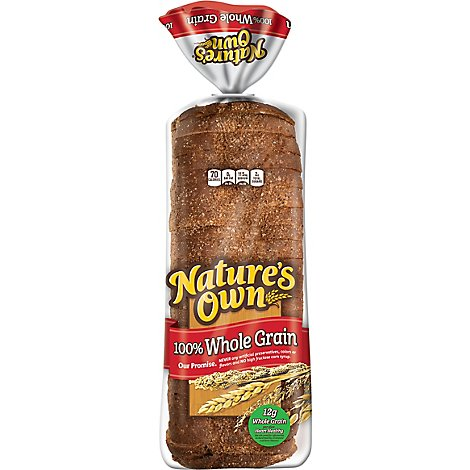 Natures Own 100% Whole Grain - 20 Oz