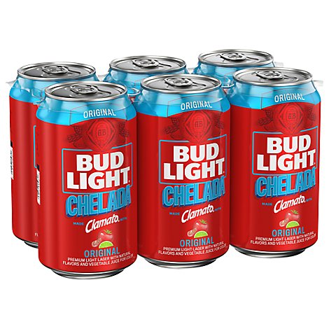 Bud Light Chelada Beer Cans - 6-12 Fl. Oz.