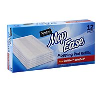 Signature SELECT Mop Ease Mopping Pad Refills Disposable Cleaning Pads - 12 Count