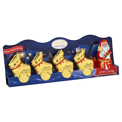 Lindt Milk Chocolate Sleigh Mini - 1.7 Oz