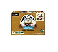 Newmans Own Organics Coffee K-Cup Pods Medium Roast Newmans Special Blend - 12-0.40 Oz