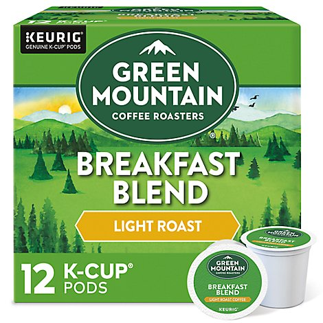 Green Mountain Coffee Coffee K-Cup Pods Light Roast Breakfast Blend - 12-0.31 Oz