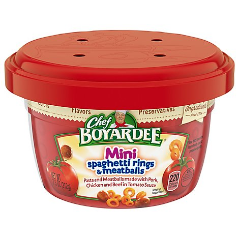 Chef Boyardee Pasta Mini Spaghetti Rings & Meatballs - 7.5 Oz