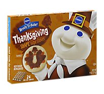 Pillsbury Ready To Bake! Shape Sugar Cookies Pre Cut Thanksgiving Turkey 24 Count - 11 Oz