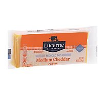 Lucerne Cheese Natural Medium Cheddar Reduced Fat 2% - 8 Oz