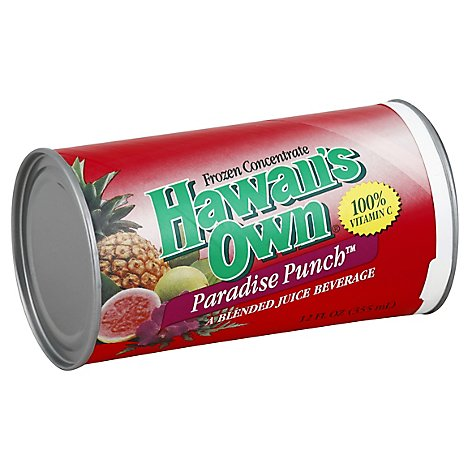 Hawaiis Own Juice Frozen Concentrate Paradise Punch - 12 Fl. Oz.