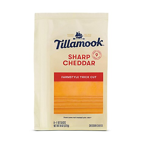 Tillamook Sliced Sharp Cheese - 8 Oz