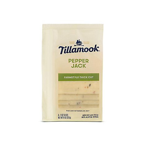 Tillamook Pepper Jack Sliced Cheese - 8 Oz