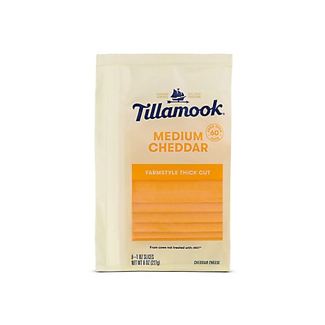 Tillamook Medium Sliced Cheese - 8 Oz