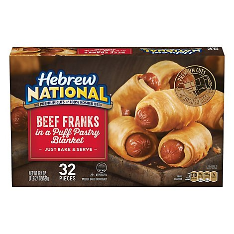 Hebrew National Beef Franks In A Puff Pastry Blanket Snacks - 18.4 Oz