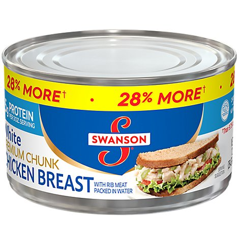 Swanson Chicken Breast Premium Chunk White with Rib Meat - 12.5 Oz
